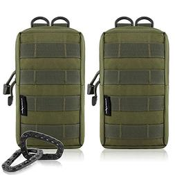2-Pack Molle Pouches - Tactical Compact Water-resistant EDC