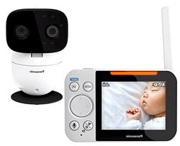 Panasonic Video Baby Monitor with Remote Pan/Tilt/Zoom, Wide