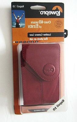 NEW LOWEPRO NAPOLI 10 Red Genuine Nappa Leather Compact Came