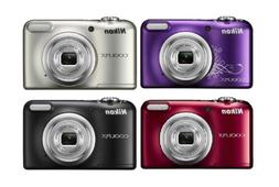 Nikon Coolpix A10 16.1MP 5x Zoom Compact Digital Camera Blac