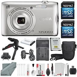 Nikon COOLPIX A300 Digital Camera W/ Deluxe Bundle, 2x 32GB,