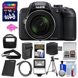 Nikon Coolpix B700 4K Wi-Fi Digital Camera with 64GB Card +
