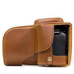 MegaGear Nikon D3400 Ever Ready Leather Camera Case and Stra
