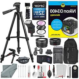 Nikon D3400 for Dummies + Deluxe Accessory Bundle with Xpix