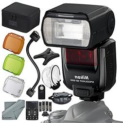 Nikon SB-5000 AF Speedlight Flash Kit with Remote, Bounce Di