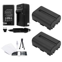 NP-FM500H Battery 2-Pack Bundle with Rapid Travel Charger an