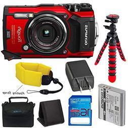 Olympus TG-5 Waterproof Camera with 3-Inch LCD, Red , I3ePro