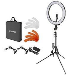 Neewer Upgraded 18-inch Outer Dimmable SMD LED Ring Light wi