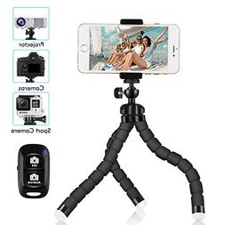 Phone Tripod, SIX-QU 8.3in Adjustable and Flexible Phone Sta