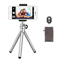 Phone Camera Tripod, UBeesize Compact Aluminum Tripod with W