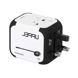 Travel Adapter Uppel Dual USB All-in-one Worldwide Travel Ch