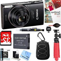 Canon PowerShot ELPH 360 HS Digital Camera  + 32GB Deluxe Ac