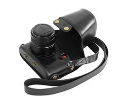 """MegaGear""""Ever Ready"""" Protective Black Leather Camera Case, B"""