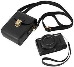 Protective Leather Camera Case Strap - Digital Compact Point