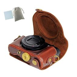 No.2 Warehouse PU Leather Camera Case Bag With Shoulder Stra
