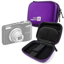 DURAGADGET Premium Quality Purple Hard EVA Shell Case with C