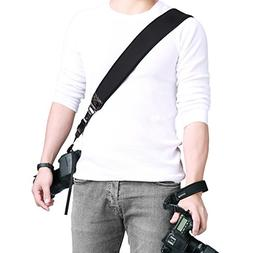 Powerextra Camera Neck Shoulder Strap and Wrist Strap w/Quic