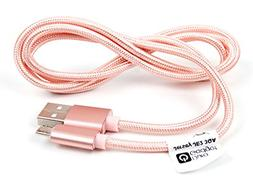 DURAGADGET Rose Gold Micro USB Data Sync Cable for the Mpow
