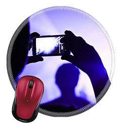 Liili Round Mouse Pad Natural Rubber Mousepad Someone talkin