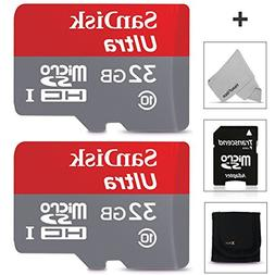 SanDisk 32GB Micro SD Memory Card - 2 PACK  for Sony Xperia
