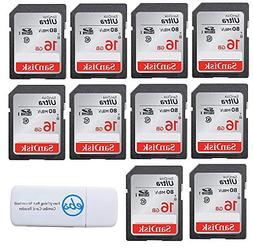 SanDisk Ultra 16GB  Class 10 SDHC Genuine Flash Memory Card