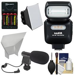 Nikon SB-500 AF Speedlight Flash & LED Video Light with Micr