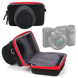 Shock-Absorbing Protective Compact Camera Case in Black & Re