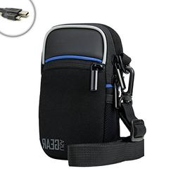 Shoulder Sling Compact Digital Camera Holster with Rain Cove