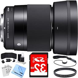 Sigma 30mm F1.4 DC DN Lens for Sony E Mount includes Bonus V