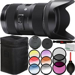 Sigma 18-35mm f/1.8 DC HSM Art Lens for Sony A-mount + 3 Pie