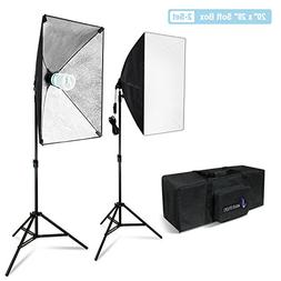 Julius Studio 20 x 28 Inch Soft Box with Bulb Socket Lightin