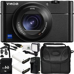 Sony Cyber-shot DSC-RX100 V Digital Camera 64GB Bundle 11PC