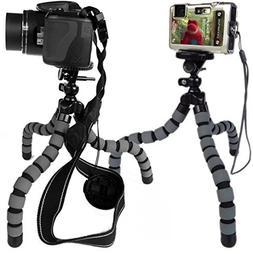 Strong Flexible Tripod for Compact Cameras  - Grey - KSD-FT2