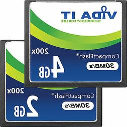 New 2GB 4GB Compact Flash CF Memory Card High Speed 30MB/s F