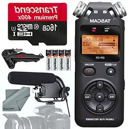 Tascam DR-05 Portable Handheld Digital Audio Recorder and Ac