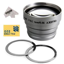 Opteka 3x Telephoto Converter Magnetic Magnet Lens for Casio