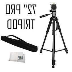 Professional 72-inch Tripod 3-way Panhead Tilt Motion with B