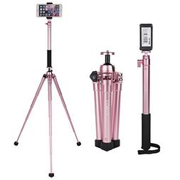 COMAN MT50 Selfie Stick Tripod Kit Compact for Travel with B