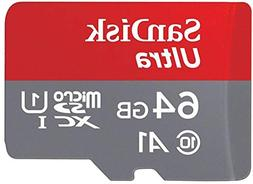 SanDisk Ultra 64GB microSDXC UHS-I card with Adapter - 100