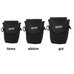 Universal Compact Camera Case Universal Soft Bag Pouch + Str