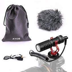 BOYA BY-MM1 Universal Video Microphone with Shock Mount, Dea