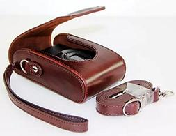 Universal PU Leather case with Shoulder Strap for Leica D-LU