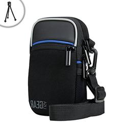 USA Gear Compact Digital Camera Case with Shoulder Sling and