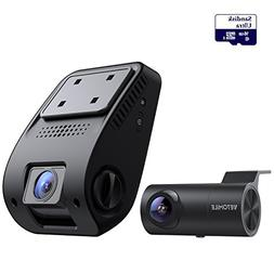 VETOMILE V3 Dual Dash Cam FULL HD 2160P 170 Degree Wide Angl