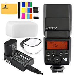 Godox V350S TTL 2.4G Camera Flash with Built-in Rechargeable