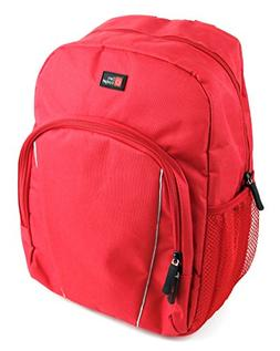 DURAGADGET Water-Resistant Bright Red Compact Backpack with
