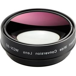 Zunow WCX-80 72mm Compact Wide Conversion Lens with 62mm Ada