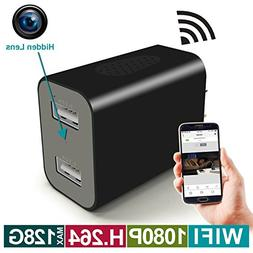 WIFI Hidden Camera - Spy Camera Wireless USB Wall Charger -
