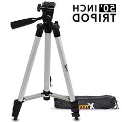 Xtech 50' inch Tripod with Carrying Case, 3 way Pan-Head,